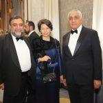 Ruben Vardanyan (Gala Keynote Speaker and AUA Benefactor), Veronika Zonabend (AUA Board of Trustees and AUA Benefactor), Gagik Adibekyan